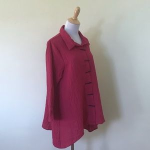 Habitat Tunic with Buttons In Pink, Size Medium